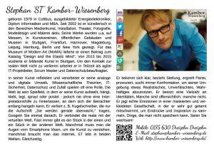 Kurzbeschreibung Stephan 'ST' Kambor-Wiesenberg