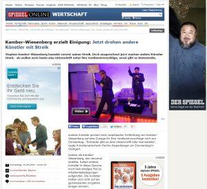Spiegel Online - Schlichtung im Künstlerstreik