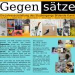 Ausstellung Gegensätze (Flyer)
