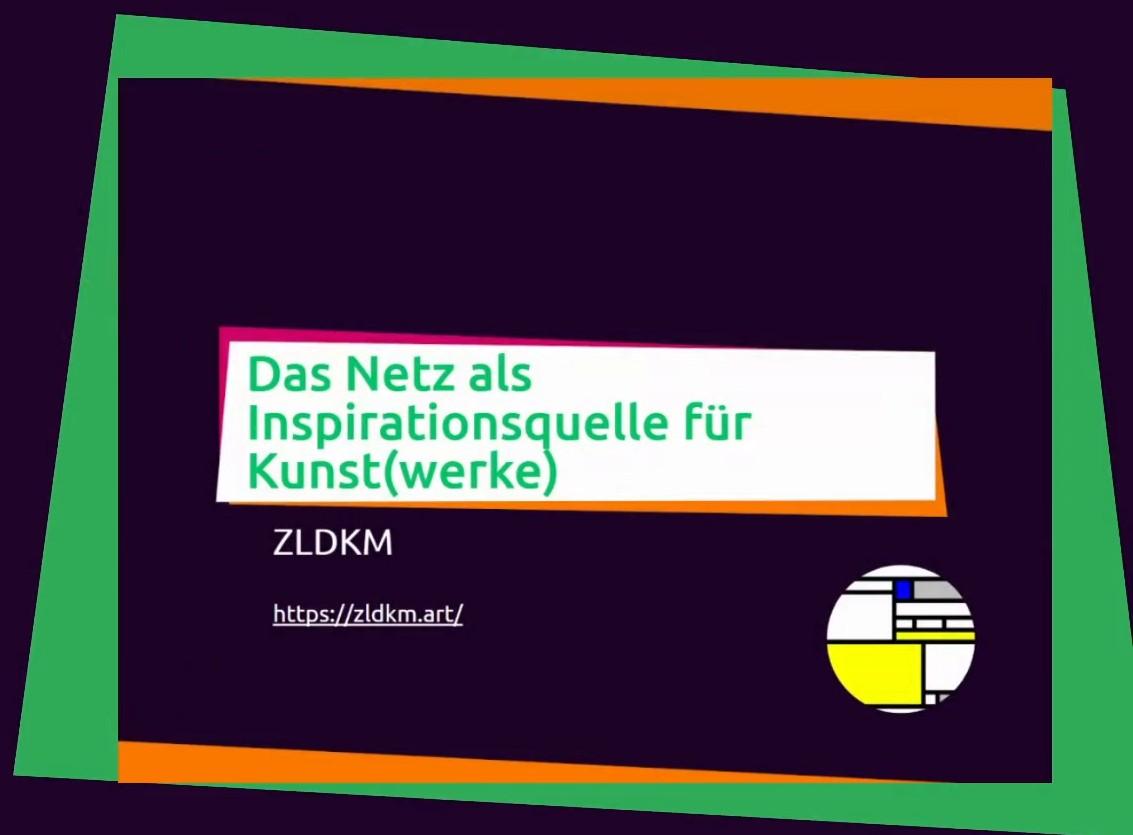 Slide: Das Netz als Inspirationsquelle für Kunst(werke)